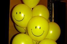 """Гелиевые шары """"Смайл"""" 30 см. (полет шара от 3 дней и более)"""